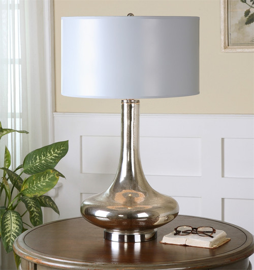... Fabricius Mottled Mercury Glass Table Lamps