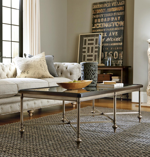 ... Proximity Bronze Metal And Glass Coffee Table Sets