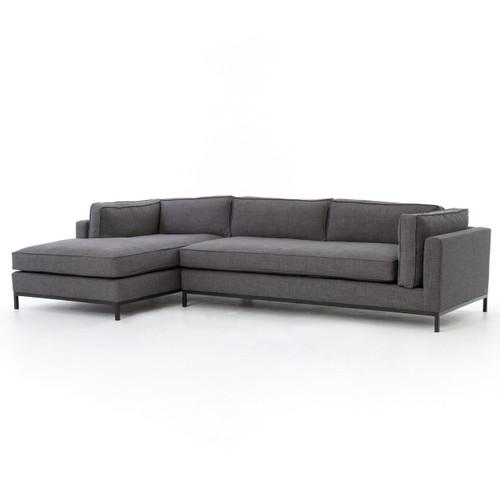 Grant Modern Charcoal Grey Armless Corner Sectional: Colins Denim Sleeper Sectional Sofa