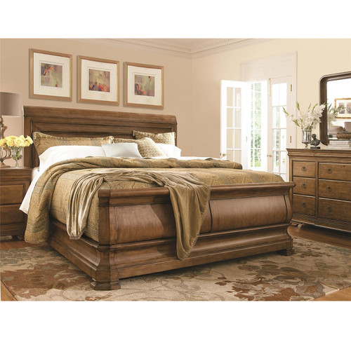 ... Louis Philippe Solid Wood King Size Sleigh Bedroom Furniture ...