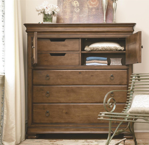 Louis Philippe Solid Wood Gentleman's Dressing Chest