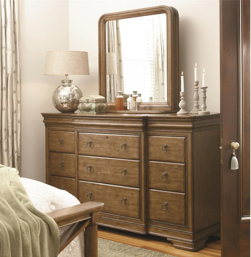 ... Louis Philippe Solid Wood Wall Mirror Jewelry Storage