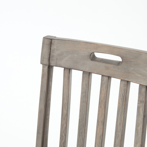 ... Cintra Rustic Reclaimed Wood Dining Room Chairs  Gray ...