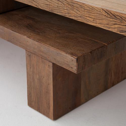 Ferris Reclaimed Wood Modular Nesting Coffee Table Zin Home