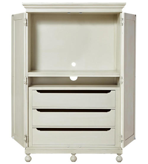 ... Sojourn French Country White Bedroom Armoire Wardrobe Cabinet