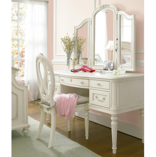 Rosalie Kids Vanity Desk with Mirror