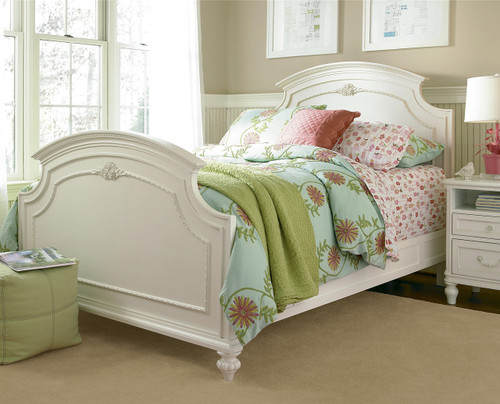 rosalie kids full size panel bed white zin home. Black Bedroom Furniture Sets. Home Design Ideas