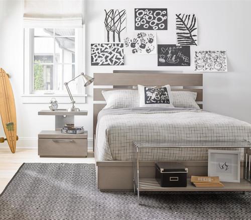 grayson modern kids full size bed frame zin home. Black Bedroom Furniture Sets. Home Design Ideas