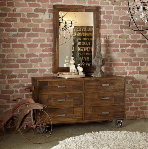 loft industrial furniture. Brooklyn Industrial Loft Reclaimed Wood Frame Mirror Furniture