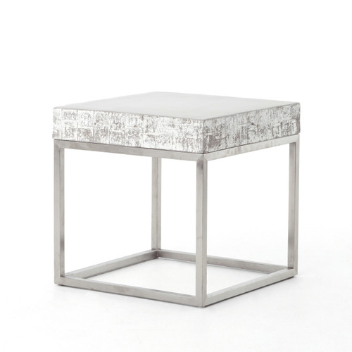 Concrete And Chrome End Table Zin Home - Concrete and chrome coffee table