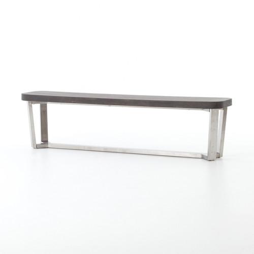 Ashton Lavastone-Top Stainless Steel Leg Bench