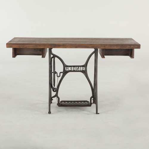 Singer Sewing Machine Base Reclaimed Wood Desk 40 Zin Home Beauteous Table With Sewing Machine Base