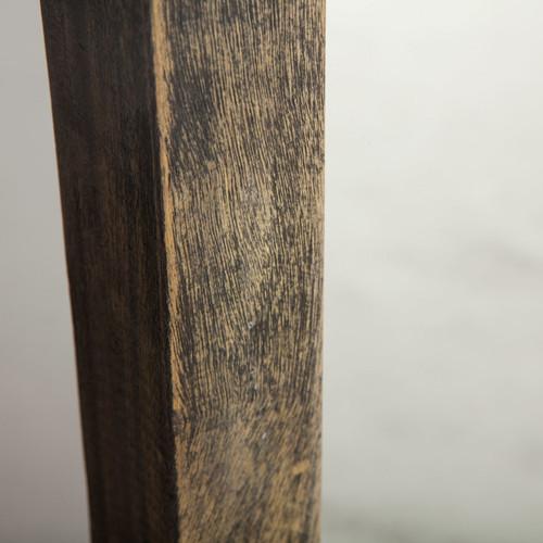Steampunk Industrial Steel Wood Standing Floor Mirror Zin Home