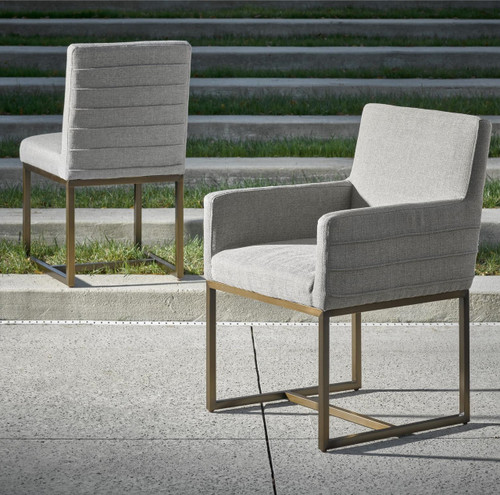 ... Cooper Modern Bronze Metal Leg Upholstered Side Chair
