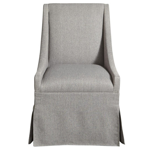 Townsend Modern Grey Upholstered Skirted Dining Chair  Grey ...