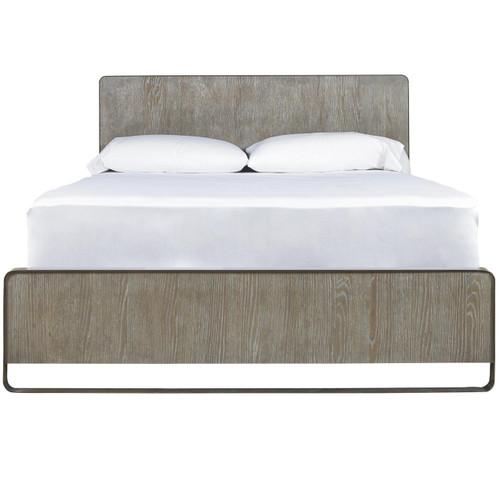 Wilshire Modern Oak Wood and Metal Platform Bed Frames Zin Home