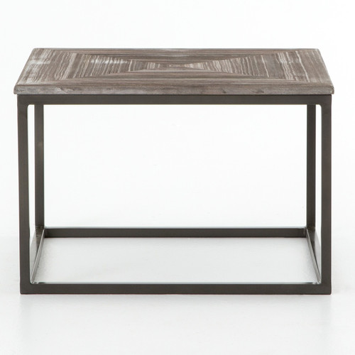 French Connection Gunmetal Coffee Table: Linden Industrial Iron And Marble Top Square Coffee Table