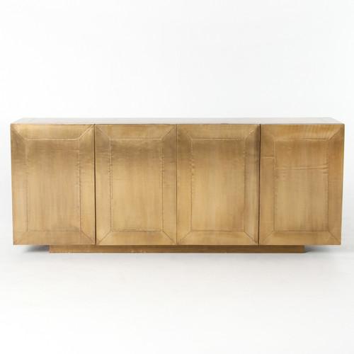 Sideboard Beige freda brass clad wrapped industrial buffet sideboard zin home