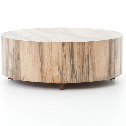 Ordinaire ... Barthes Rustic Lodge Round Natural Wood Block Coffee Table ...