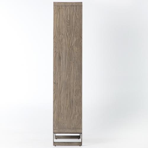 Harding Modern Glass Door Display Cabinet Grey Zin Home
