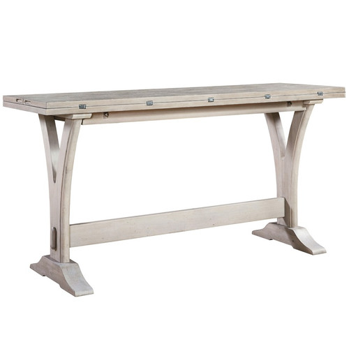 Belgian Cottage Flip Top Console Table - Antiqued White