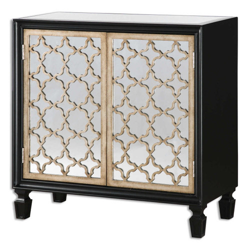 Franzea Mirrored Small Console Cabinet Zin Home