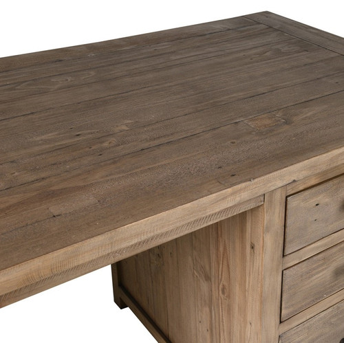 ... Farmhouse Reclaimed Wood Desk With File Storage ...