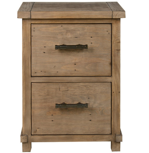 Beau Farmhouse Reclaimed Wood 2 Drawer Filing Cabinet ...