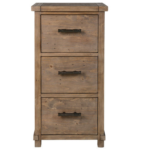Delicieux Farmhouse Reclaimed Wood 3 Drawers Filing Cabinet
