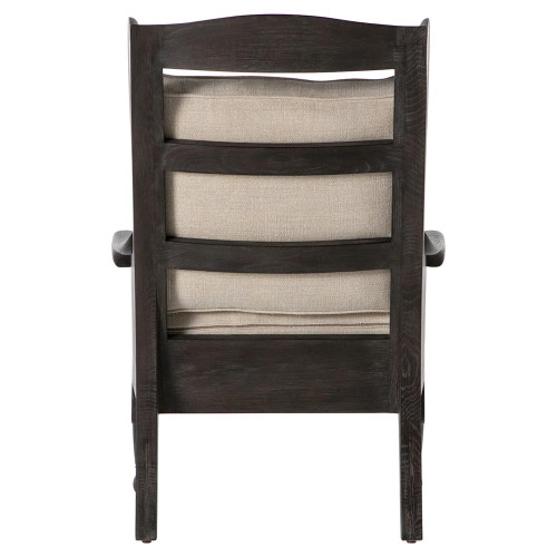Loni French Country Exposed Oak Wing Chair Zin Home