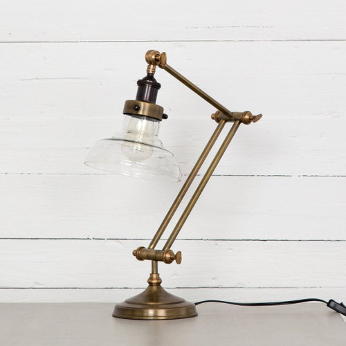 Percy Antiqued Brass Desk Task Lamp ...