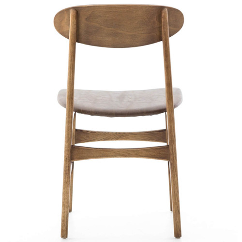 ... Schoolhouse Oak Wood And Leather Chairs ...