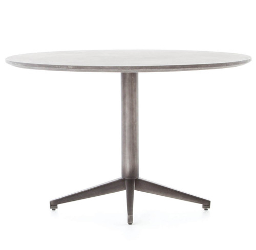Kaufman Concrete Round Dining Table Zin Home - Concrete pedestal dining table