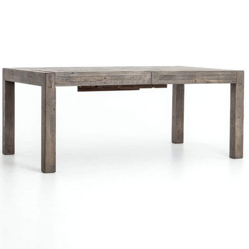 Parsons Grey Reclaimed Wood Extension Dining Table 72''