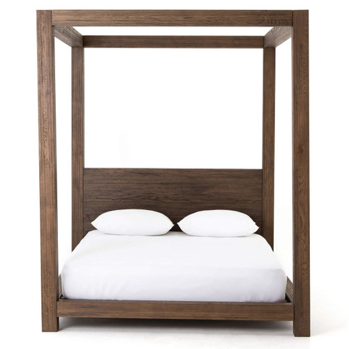... Williams Wood King Platform Canopy Bed Frame ...  sc 1 st  Zin Home : platform canopy bed frame - memphite.com