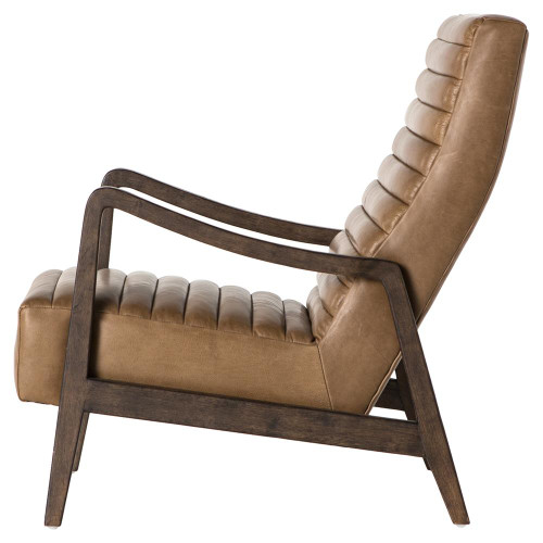 ... Chance Modern Camel Leather Lounge Armchair ...  sc 1 st  Zin Home & Chance Modern Camel Leather Lounge Chair   Zin Home