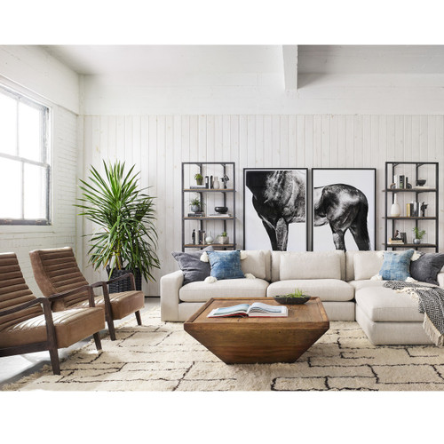 Contemporary Lounge Chairs Living Room: Chance Modern Camel Leather Lounge Chair