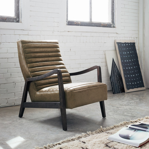 Chance Modern Camel Leather Lounge Chair Zin Home