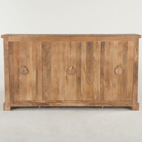 Inspiring Second Hand Cabinets 4 Dark Cherry Kitchen: French Farmhouse Solid Wood 4 Door Credenza Cabinet 75