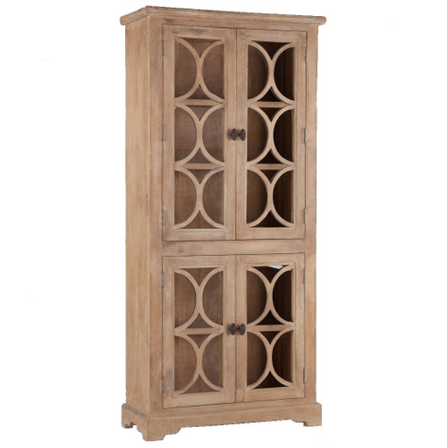 French Farmhouse Solid Wood 2 Door Display Cabinet ...