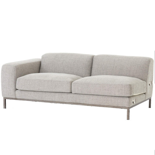 Benedict Modern Grey Fabric LAF Sectional Sofa ...