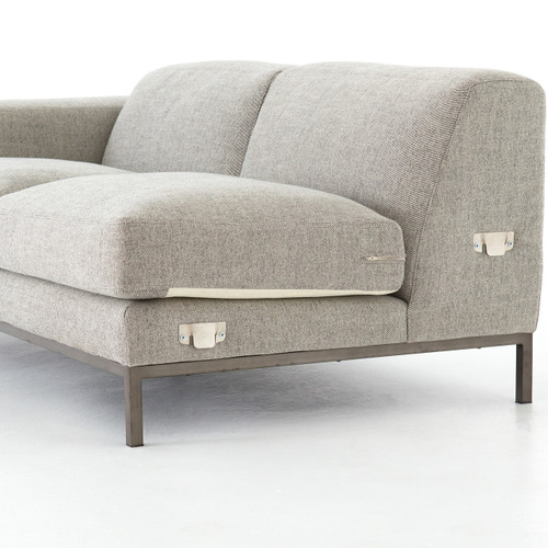 ... CKEN 22148 173,BENEDICT SECTIONAL LAF SOFA  GARBARDINE GREY ...
