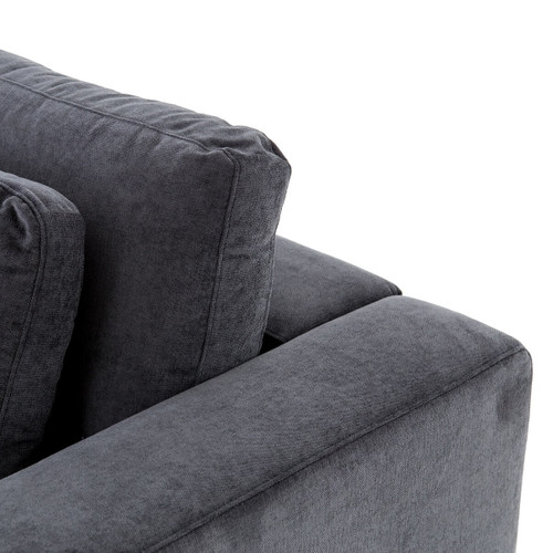 Contemporary Swivel Accent Chair Slate Gray: Bloor Contemporary Charcoal Grey Velvet Upholstered Swivel