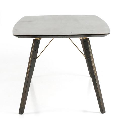 Thoreau MidCentury Modern Burnt Oak Dining Table Zin Home - Mid century modern card table