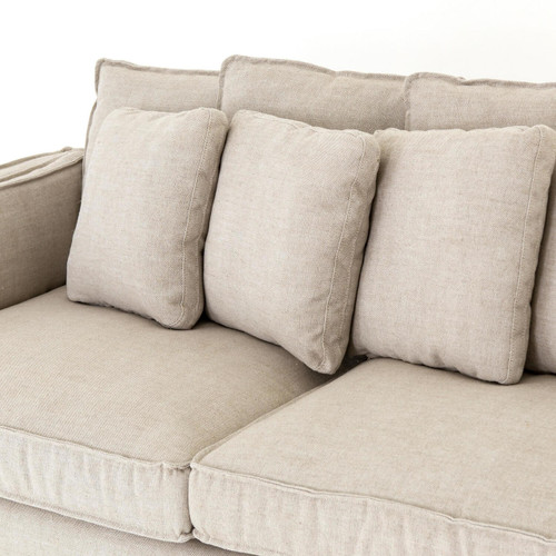gave sofa by slipcover gold make mitchell i the linen makeover to copying old a pin this