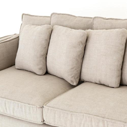 ac cotton textured slipcover dp sofa duck sand amazon com linen fit sure