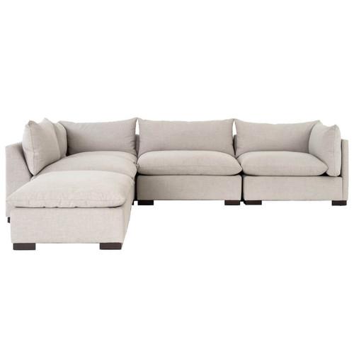 ... Westworld Modern Beige 5 Piece Modular Lounge Sectional Sofas ...