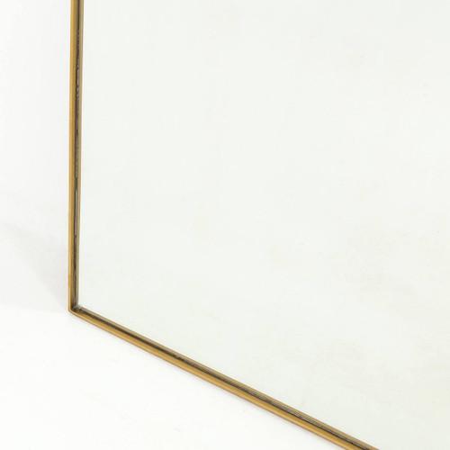 Bellevue Polished Brass Floor Mirror 80\