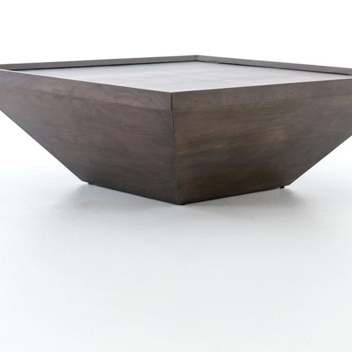 Drake Coal Grey Reclaimed Wood Square Coffee Table Zin Home - Drake coffee table