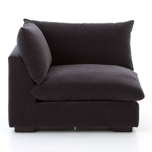 Beau ... Grant Modern Charcoal Grey Sectional Corner Chair ...